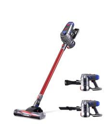 Green Fingers Devanti Handheld Vacuum Cleaner Cordless Stick Handstick Vac Bagless 2-Speed Headlight Red