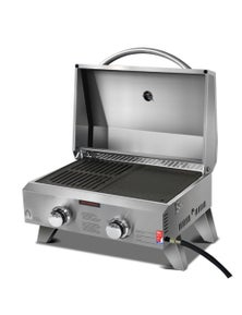 Grillz Portable Gas BBQ LPG Oven Grill - 2 Burners