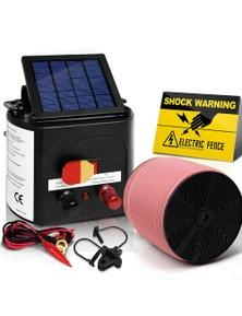 Giantz Electric Fence Energiser 5km Solar Powered 0.15j Set+ 1200m Tape