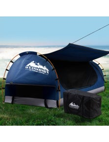 Weisshorn King Single Camping with 7cm Mattress - Dark Blue