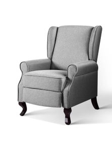 Artiss Luxury Recliner Chair - Grey Fabric