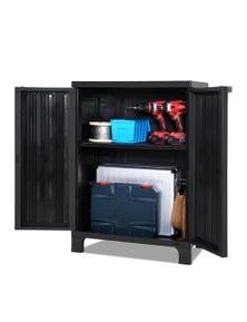 Gardeon Outdoor Storage Lockable Cabinet - Black