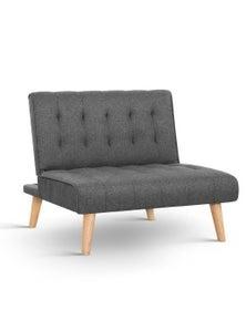 Artiss Recliner Sofa Chair 1 Seater Modular Bed - Grey
