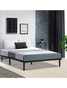 Metal Bed Frame Mattress Base Platform Foundation Wooden TED