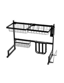 2-Tier 65cm Stainless Steel Kitchen Dish Drying Rack
