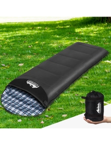 Weisshorn Single Thermal Sleeping Bag Camping Hiking Grey