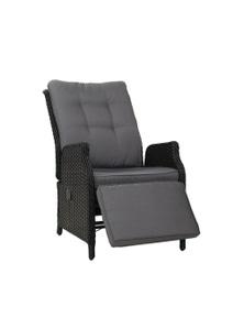 Gardeon Wicker Recliner Chair - Black