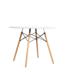 Artiss Dining Table Round 4 Seater Replica Tables Timber White 90cm