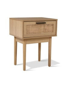 Artiss Rattan Bedside Table - Light Wood Tone