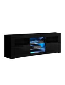 Artiss RGB LED TV Entertainment Unit Stand 160cm - Gloss Black
