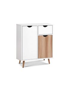 Artiss Buffet Sideboard Storage Cabinet - Medium Wood Tone/White