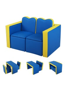 Gardeon Keezi Kids Sofa Armchair with Table and Storage Space - Blue