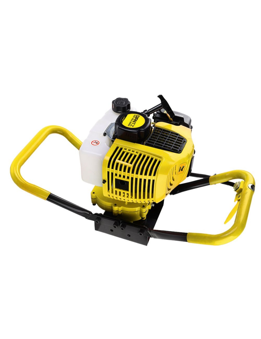 Giantz Post Hole Digger 66cc Petrol Only Engine Motor Earth Auger Borer Fence - Yellow - One Size
