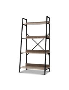 Artiss Bookshelf 4-Tier Metal Oak Display Shelf