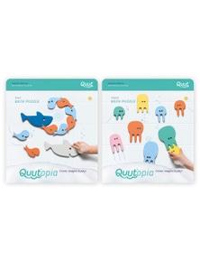 Quut - Quutopia Bath Toys Jellyfish Bath Puzzle/Shark Bath Puzzle 2X
