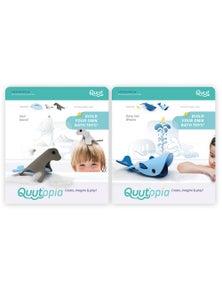 Quut - Quutopia Bath Toys Seal Island/Deep Sea Whales 2X
