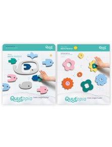 Quut - Quutopia Bath Toys Whale Bath Puzzle/Flower Power Bath Puzzle 2X
