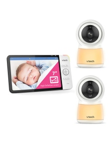 "Vtech 7"" Smart Wi-Fi HD Video Baby Monitor with 2x Camera"