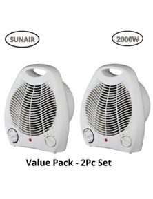 Sunair 2 Pack 2000W Portable Upright Fan Heater w/ Thermostat