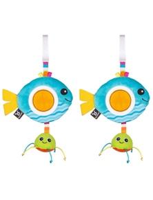 Benbat Dazzle Rattle Fish Toy 2PK