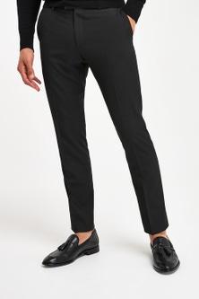 Next Black Tuxedo Suit: Trousers - Slim Fit