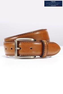 Next Signature Italian Tan Classic Stitch Belt