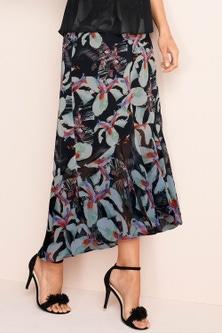 Grace Hill Frilled Chiffon Skirt