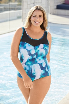 Quayside Woman Mesh Swimsuit