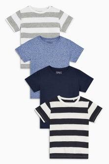 Next Short Sleeve T-Shirts Four Pack (3mths-6yrs)