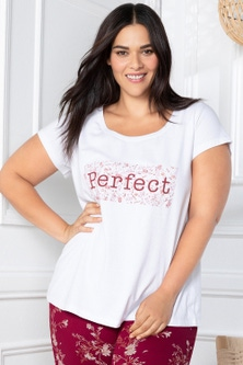 Sara Short Sleeve Scoop Neck Tee