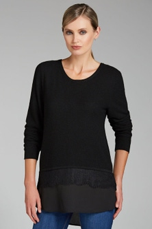 Grace Hill Mixed Media Sweater