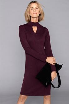 Capture Knitted Keyhole Neck Dress