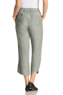 Grace Hill Button Cuff Linen Pants