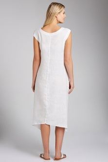 Grace Hill Embroidered Linen Dress