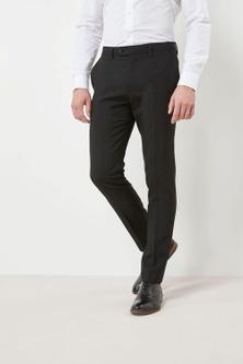 Next Machine Washable Plain Front Trousers - Skinny Fit