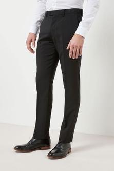 Next Machine Washable Plain Front Trousers - Slim Fit