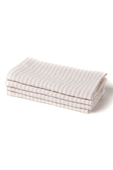 Hampton Stripe Linen Napkin Set of Four