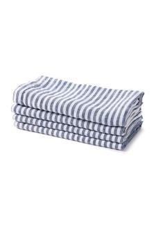 Hampton Stripe Linen Napkin Set of Four