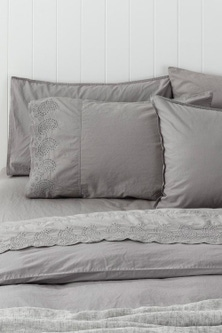 Washed Cotton Anglaise Sheet Set