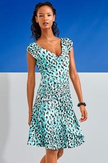 Heine Wrap Effect Printed Dress