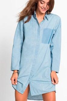 Urban Chambray Shirt Dress