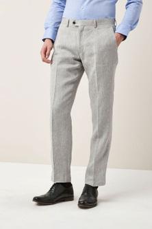 Next Signature Linen Suit: Trousers - Tailored Fit
