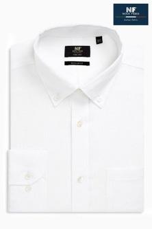 Next Signature Linen Shirt - Regular Fit Single Cuff