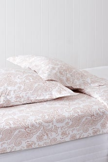 250 Thread Count Cotton Flanged Printed Pillowcase Pair
