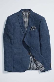 Next Herringbone Jacket - Slim Fit