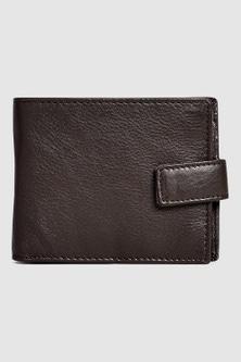 Next Signature Italian Leather Extra Capacity Popper Wallet