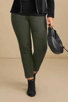 Sara So Slimming Hem Detail Jeans