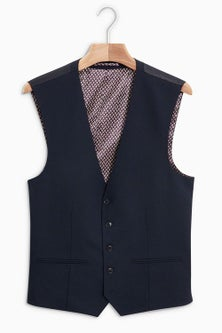 Next Wool Blend Stretch Suit: Waistcoat