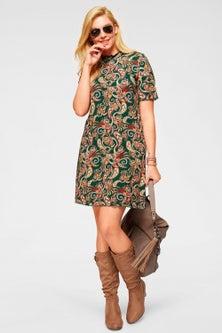 Urban High Neck Jersey Dress