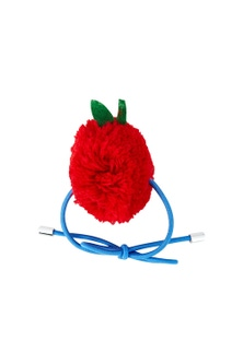 Pumpkin Patch Pom Pom Apple Hair Tie